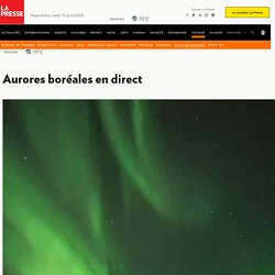Aurores boréales en direct
