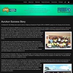 Aurukun Success Story