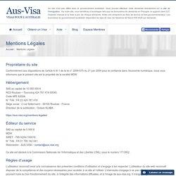 Aus-visa.org - Mentions Légales