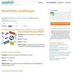 Social Media Ausbildungen