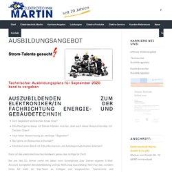 Ausbildungsangebote – Elektrotechnik Martin