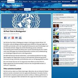 WHO warnt vor schneller Ausbreitung: 40 Pest-Tote in Madagaskar
