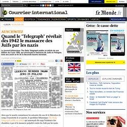 """Quand le """"Telegraph"""" révélait dès 1942 le massacre des Juifs par les nazis"""