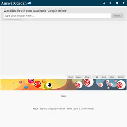 """Was fällt dir ein zum Ausdruck """"Google effect""""...- Plant a Question, Grow Answers! Generate a live word cloud with your audience."""