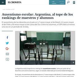 Ausentismo escolar: Argentina, al tope de los rankings de maestros y alumnos