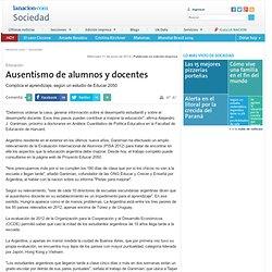 Ausentismo de alumnos y docentes - 11.06.2014 - lanacion.com