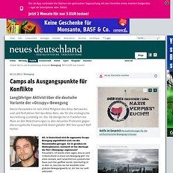 02.11.2011: Camps als Ausgangspunkte für Konflikte (Tageszeitung Neues Deutschland)