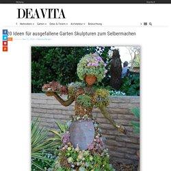 20 Ideen für ausgefallene Garten Skulpturen zum Selbermachen