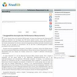 Ausgewählte Konzepte des Performance Measurement, Balanced Scorecard, Das klassische Balanced Scorecard-Konzept von Kaplan und Norton - Performance Measurement in der Beschaffung - Studlib - freie digitale bibliothek