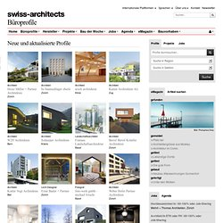 Profile ausgewählter Architekten