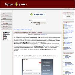 Windows 7 - Größe der Auslagerungsdatei unter Windows 7 einstellen