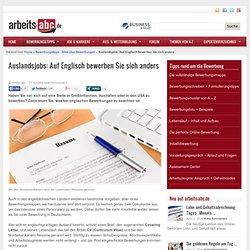Auslandsjobs: Auf Englisch bewerben Sie sich anders » arbeits-abc.de
