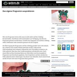 Das eigene Programm ausprobieren - Codebug angetestet: Bug mit Feature