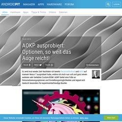 AOKP ausprobiert: Optionen, so weit das Auge reicht! - AndroidPIT