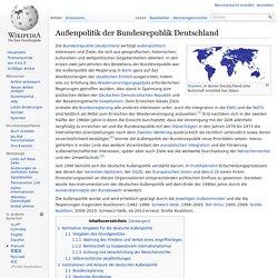 Außenpolitik der Bundesrepublik Deutschland