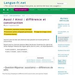 Aussi/ainsi (langue-fr.net)
