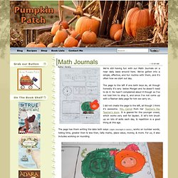 Aussie Pumpkin Patch: Math Journals