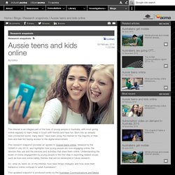 Aussie teens and kids online