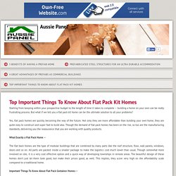 Top Things To Know About Flat Pack Kit Homes