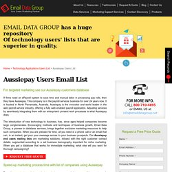 Aussiepay Users List : Customers Email Addresses : Mailing Database