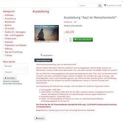 """Ausstellung """"Asyl ist Menschenrecht"""" - Ausstellung - Onlineshop PRO ASYL"""