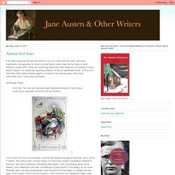 Jane Austen and Other Writers: Austen first lines