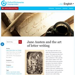 Jane Austen and the art of letter writing