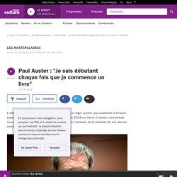"""Paul Auster : """"Je suis débutant chaque fois que je commence un livre"""""""