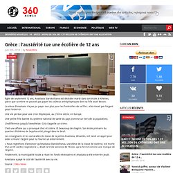 Grèce : l'austérité tue une écolière de 12 ans - News360x News360x