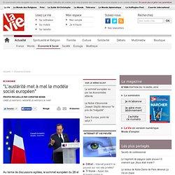 """""""L'austerité met à mal le modèle social européen"""" - Économie & Social"""
