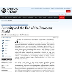 Austerity and the End of the European Model