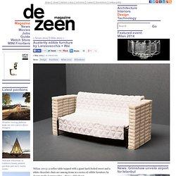 Austerity edible furniture by Lanzavecchia + Wai
