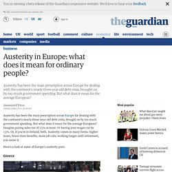 Austerity in Europe: what does it mean for ordinary people?