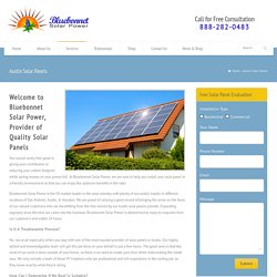 Solar Panels and Solar Power in Austin