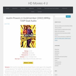 Austin Powers in Goldmember (2002) BRRip 720P Dual Audio