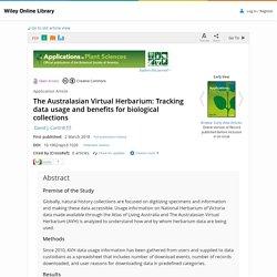 AUS: Tracking data usage: ecology, ed, cit sci