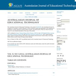 Australasian Journal of Educational Technology (WoS Q3)
