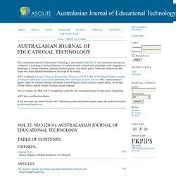 Australasian Journal of Educational Technology (WoS Q3)
