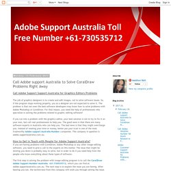 Adobe CorelDraw Support Australia Toll Free Number +61-730535712