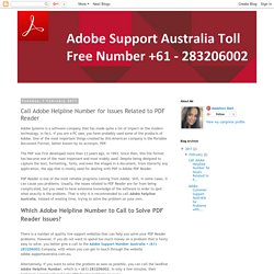 Adobe PDF Support Australia Toll Free Number +61 - 283206002
