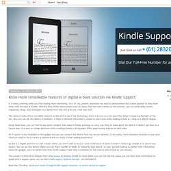 Kindle Support Number Australia +61-283206016: Know more remarkable features of digital e-book solution via Kindle support