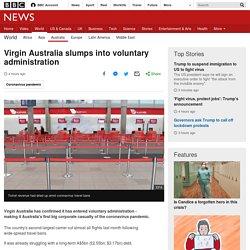 Virgin Australia slumps into voluntary administration