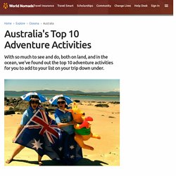 Australia's Top 10 Adventure Activities