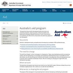Australia's aid program