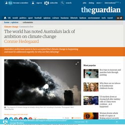The world has noted Australia's lack of ambition on climate change