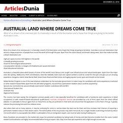 Australia: Land Where Dreams Come True