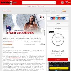 Steps to take towards Student Visa Australia
