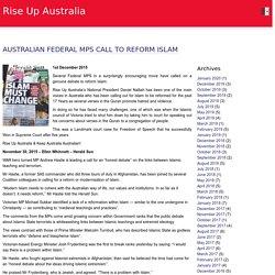 Rise Up Australia » Australian Federal MPs call to Reform Islam