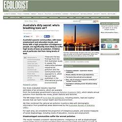 Australia's dirty secret: who's breathing toxic air? - News