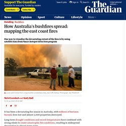 How Australia's bushfires spread: mapping the east coast fires